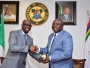 Tunde Folawiyo presented Governor Ambode with a sample of the crude oil May 16th 2016