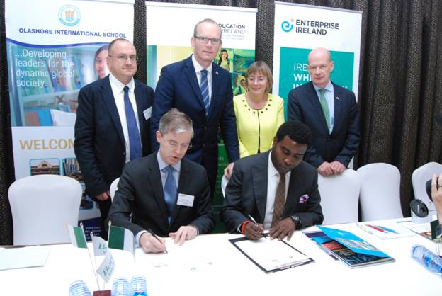 Olashore Signs MoU with Ireland 2015 (1)