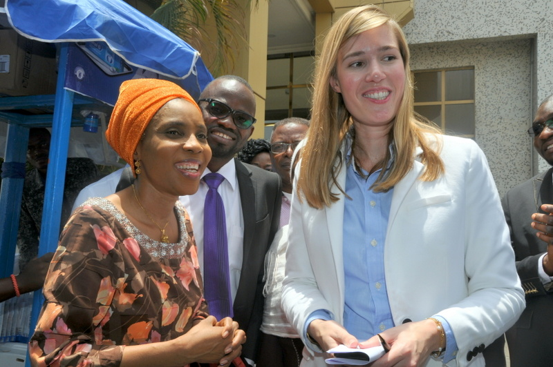 Representative of the Minister of Health, Dr Adebimpe Adebiyi; Consultant Orthodontist Abuja Teaching Hospital, Dr Abdulhakim Olatunji and Brand Manager Oral B, Aliza Leferink, during the Oral B World Oral Health Day celebration held in Abuja.