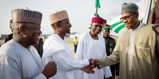 President Buhari arrives Abuja after 10-day vacation in London. June 19,2016 (4)