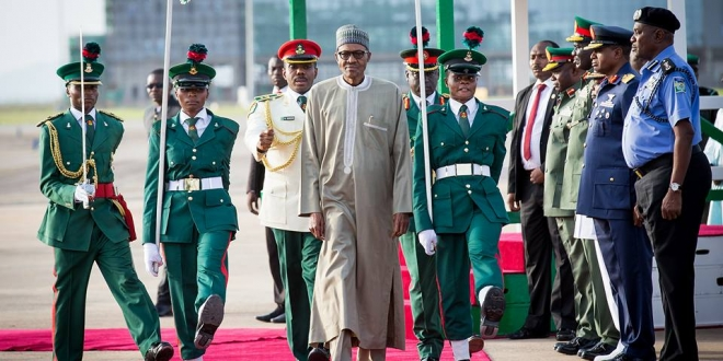 President Buhari arrives Abuja after 10-day vacation in London. June 19,2016 (9)