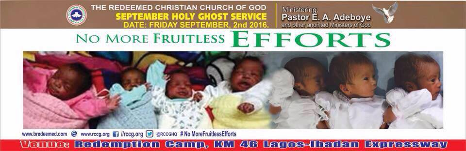 RCCG September 2016 Holy Ghost Service